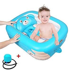 Childlike Bañera Hinchable Bebe, Bañera Plegable para Bebé Recién ...