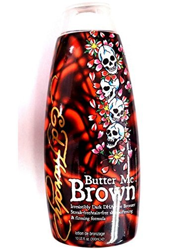 Bed Lotion Tanning Brown (Ed Hardy Butter Me Brown Indoor Tanning Bed Lotion Bronzer 10 Oz)
