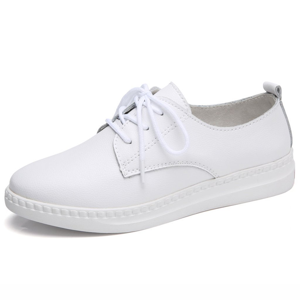 HWF レディースシューズ サマーガールズカレッジレース学生カジュアルレザーシューズ女性の靴 ( 色 : 白 , サイズ さいず : 37 ) B07BV5VMNP 37|白
