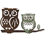 Duo Wall Mounted Owl Home Wall Decor – Rustic Metal For Sale