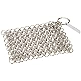 "Knapp Made CM Scrubber 4"" Chainmail Scrubber - For Cast Iron, Stainless Steel, Hard Anodized Cookware and Other Pots & Pans - Recommended by Rachael Ray, America's Test Kitchen, The New York Times"