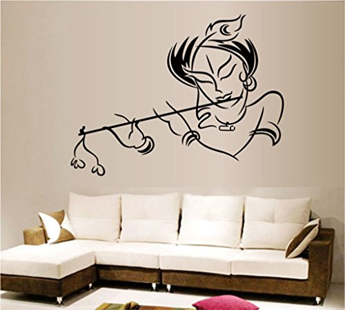 Decals Design 'Krishna' Wall Sticker (PVC Vinyl, 50 cm x 70 cm),Multicolour
