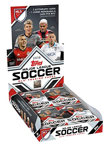 2018 Topps MLS Soccer HOBBY box (24 pk PLUS TWO Autograph cards & ONE Jumbo Relic card)