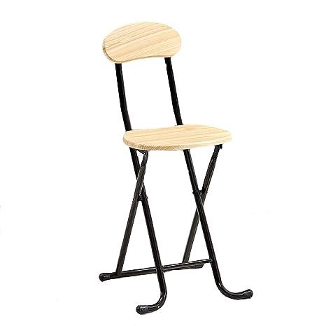Amazon.com: Silla plegable para casa, silla de respaldo ...