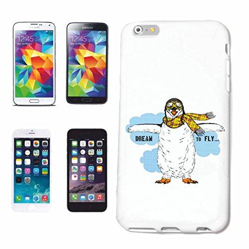 caja del teléfono iPhone 6+ Plus IDEAL PARA FLY pingüino con sombrero y gafas PILOTO DE VIDA Hiphop de la manera STREETWEAR SALSA LEGENDARIO Caso duro de la cubierta Teléfono Cubiertas cubierta para