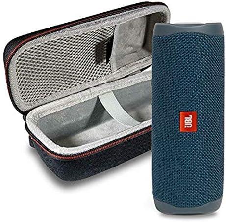 JBL Flip 5 Waterproof Portable Wireless Bluetooth Speaker Bundle with Hardshell Protective Case – Blue