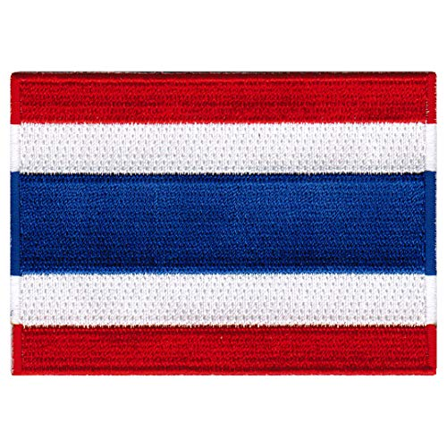 Thailand Flag Embroidered Patch Thai Iron-On National Emblem