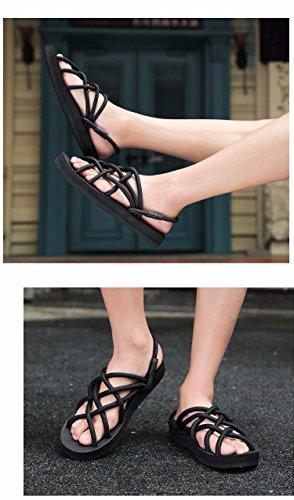sandali Uomini Tempo libero scarpa Uomini sandali estate gioventù Roma sandali Antiscivolo Spiaggia sandali ,nero,US=9,UK=8.5,EU=42 2/3,CN=44