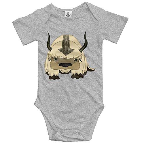 Avatar Body Suit (Baby Boy Girl Cow Clothes Bodysuit Jumpsuit Onesie Ash)