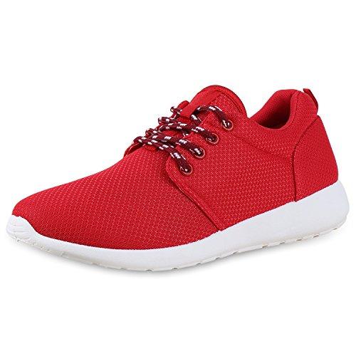 Plat Unisexe Napoli-mode Hommes Chaussures De Course Outsole Sport Espadrilles En Dentelle Casual Jennika Bianco Rouge