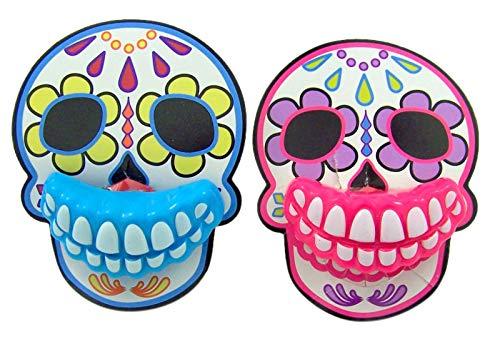 (Halloween Sugar Skull Candy Lip Pop Lollipops, Pack of)