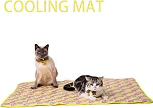 NACOCO Pet Cooling Mat Cat Dog Cushion Pad Summer Cool Down Comfortable Soft for Pets and Adults