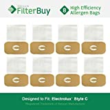 8 - Electrolux Style C Bags. Designed by FilterBuy to fit Electrolux Canister Vacuum Cleaners