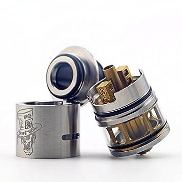 H&W 3.5ml Rebuildable Mad Hatter 24mm RDTA Vapeador Tanque 810 Drip Tip E-Cig Atomizador Metal Colore Sin Nicotina: Amazon.es: Salud y cuidado personal