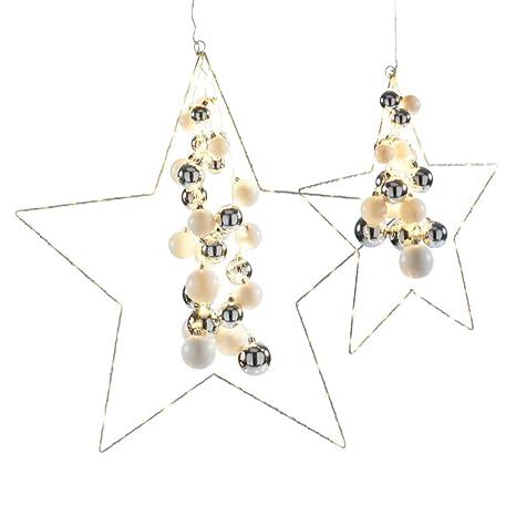 Starlight Weihnachtsbeleuchtung.Weihnachtsdeko Dekoobjekt Starlight Led Sterne Mit Kugeln