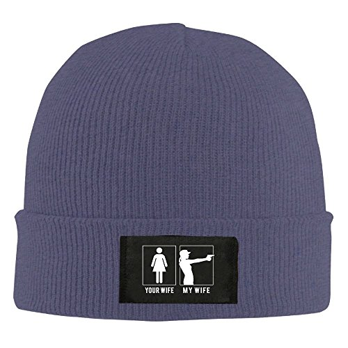 DHilary Gun - Your Wife - My Wife Warm Stylish Warm Knit Beanie Skull Cap Cuff Beanie Hat Beanie Hat Navy