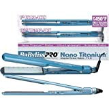 Babyliss Pro Nano Titanium Combo 1 inch Ultra Thin Flat Iron and 1 1/2 Wet-to-dry