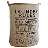 Durable Linen Retro Style Waterproof Laundry Basket for Dirty Clothes
