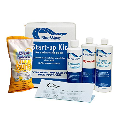 Blue Wave Concentrated Algaecide - Blue Wave NY976 Pool Chemical Spring Start-Up Kit, 7500-Gallon