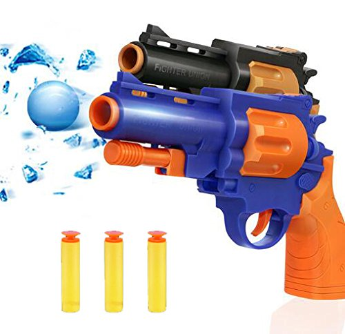 Lui Simple Toy Store Water Crystal and Soft Bullet 2 Mode in 1 Black Toy Gun/ Christmass ()
