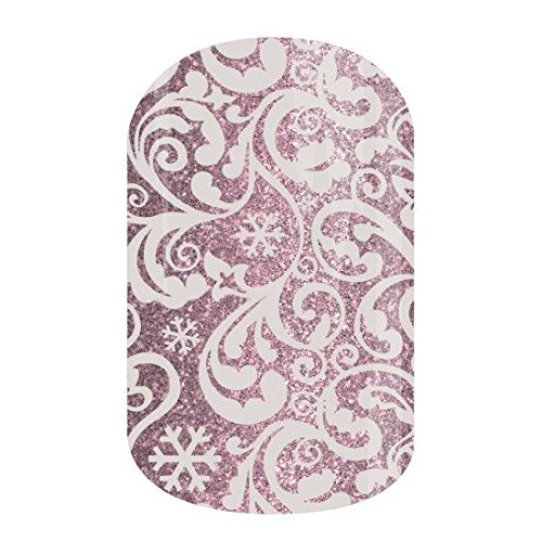 Silver Frost - Jamberry Nail Wraps - 44A6 - Full Sheet - Silver and White Sparkle Christmas Holiday (Christmas Jamberry 2019)