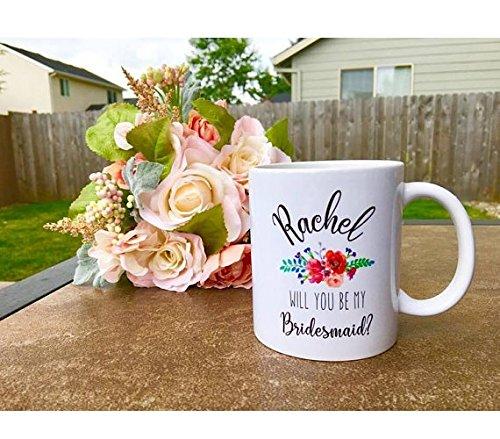 bridesmaid mug / bridesmaid gift / bridesmaid / personalized mug / bridesmaid mug / bridesmaid gift / bridal party gift / wedding / (Diy Monogram Wine Glasses)