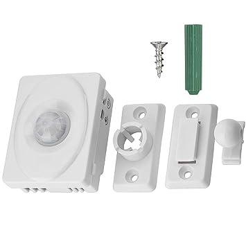 Zerone 12 V PIR Detector de Movimiento por Infrarrojos, 140 Grados, para inducción, Interruptor automático, Sensor de Presencia para luz LED: Amazon.es: ...