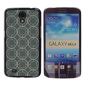 FECELL CITY // Duro Aluminio Pegatina PC Caso decorativo Funda Carcasa de Protección para Samsung Galaxy Mega 6.3 I9200 SGH-i527 // Wallpaper Pattern Rustic Grey Gray