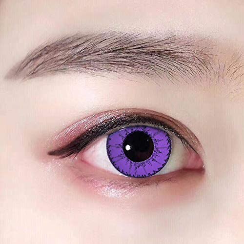 Women's multi-color cute charm and attractive color eye enhancer multi-color shadow, the most natural eye color change (Purple) (Eye Contacts Cosplay)