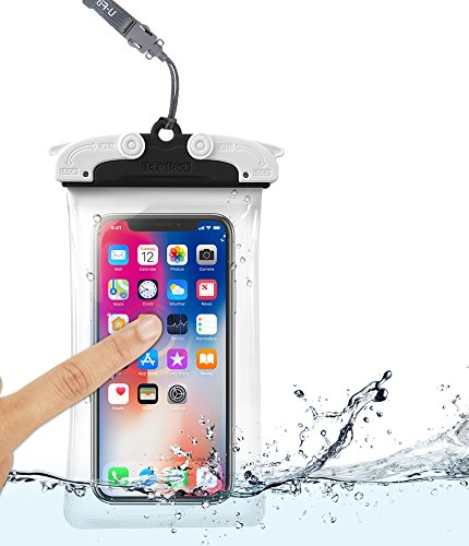 U-Fix ROUND Waterproof Universal Phone Case [Black] Clear Pouch Dry Bag for iPhone X, 8, 7 Plus, Samsung Galaxy S9, S9 Plus, S8, S8 Plus, Note 8, 6,Google Pixel 2, 2XL,LG up to 6.0'' Diagonal (Large) by Ringke (Image #4)