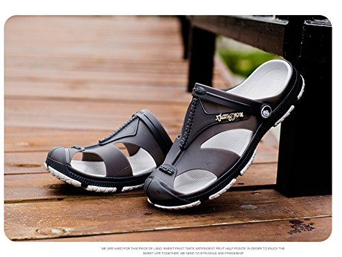 Sandali di spiaggia di Beachwear degli uomini di tendenza di tendenza anti-collisione antiscivolo, grigio, UK = 8,5, EU = 42 2/3
