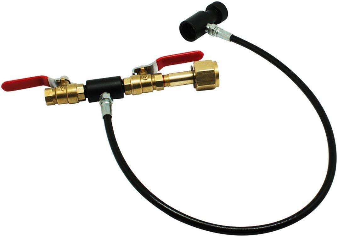 DF-FR Adaptateur de Remplissage de Station de Remplissage de r/éservoir//Cylindre de CO2 Soda Stream avec connecteur Couleur: Noir