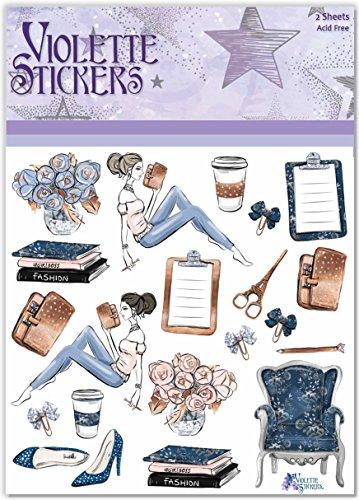 Violette Stickers Planner Girls