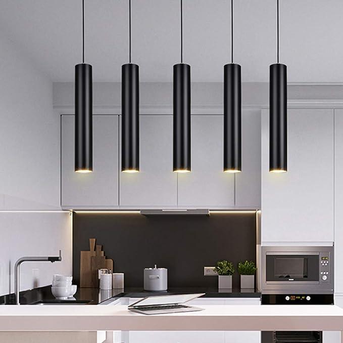 Belief Rebirth 5 luces LED Negro Moderno Colgante downlight 6W diámetro los 6cm de luz del punto - pendiente de la luz de techo de la isla de comedor Sala de estar