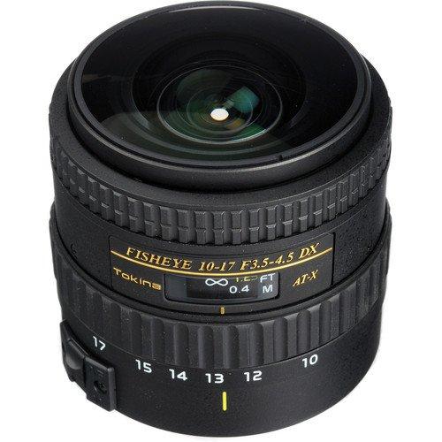 Tokina AT-X 107 AF DX NH Fisheye 10-17mm f/3.5-4.5 Lens f...