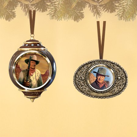 The Bradford Exchange The Powerful John Wayne Legend Ornaments Collection Set (Bradford Collectible Ornaments)