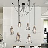 Unitary Brand Vintage Large Barn Chandelier Max 360w with 6 Lights Painted Finish For Sale