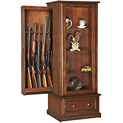 American Furniture Classics 611 10 Gun/Curio Slider Cabinet Combination