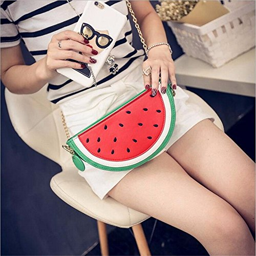 Latest Novelty Cute Watermelon Shape Shoulder Mini Bag for Women Photo #9