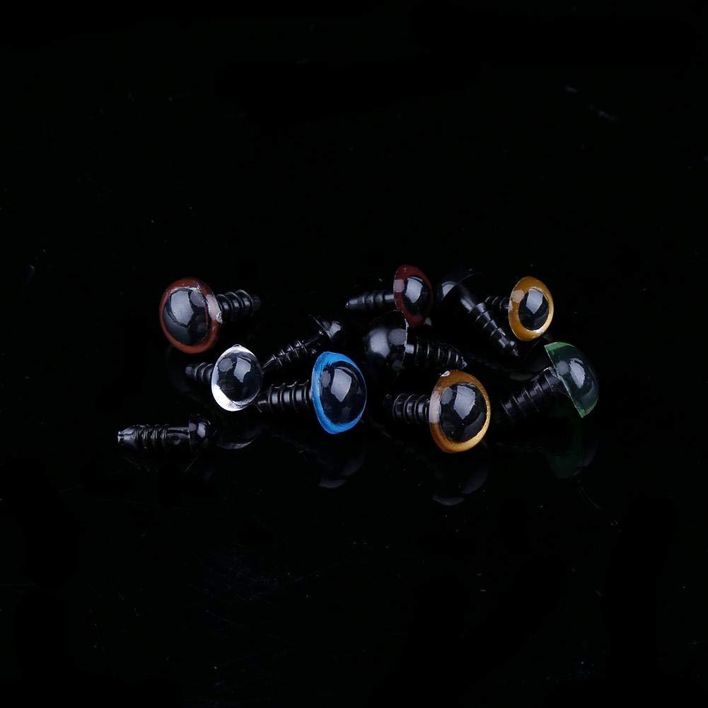 Ojos coloridos para artesan/ías para osos de peluche marionetas manualidades de animales de peluche 264Pcs Ojos de seguridad de pl/ástico con arandelas mu/ñecas