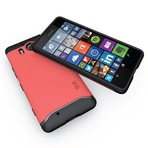 Microsoft Lumia 950 Funda, Caja protectora TUDIA Slim-Fit MERGE de doble capa para Microsoft Lumia 950 (Negro Mate) Rosa