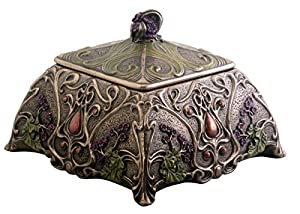 Amazoncom Art Nouveau Jewelry Box Holder Flower Home Kitchen