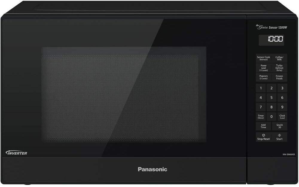 Panasonic 1.2 Cu. Ft. 1200W Genius Sensor Countertop Microwave Oven with Inverter Technology in Black