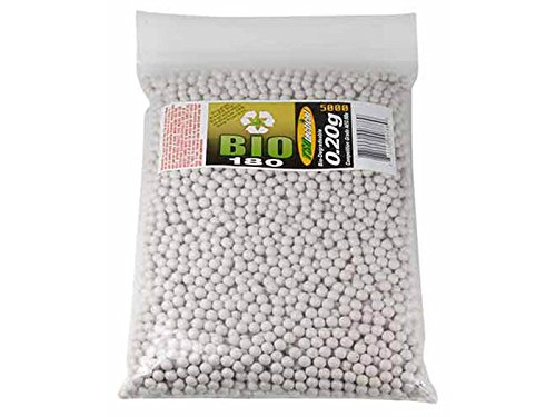 TSD Competition Grade 6mm biodegradable airsoft BBs, 0.20g, 5000 rds, white by TSD