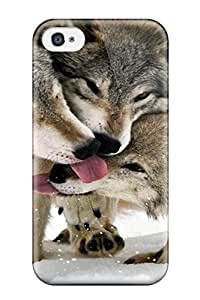 Awesome QAGWwrI6422OLujk Caronnie Defender pc Hard Case Cover For Iphone 4/4s- Animal Wolf