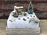 Christmas at the Farm - Rustic Handmade Box with Lighted House