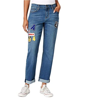 Amazon.com: Earl Jeans Patched Boyfriend Jeans: Clothing