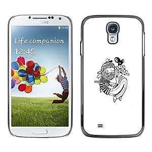 Caucho caso de Shell duro de la cubierta de accesorios de protección BY RAYDREAMMM - Samsung Galaxy S4 - Hipster Tatuaje