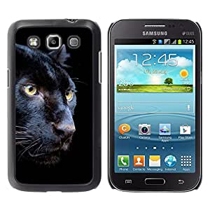 Qstar Arte & diseño plástico duro Fundas Cover Cubre Hard Case Cover para Samsung Galaxy Win / I8550 / I8552 / Grand Quattro ( Puma Black Fur Intense Animal Nature)
