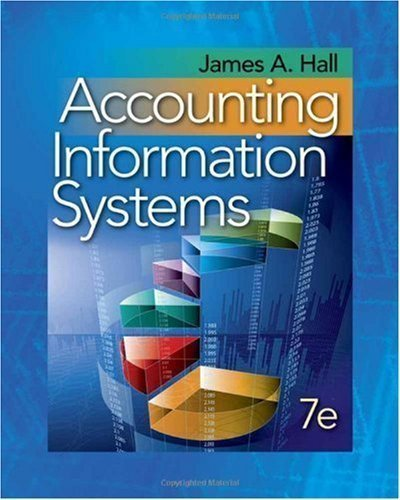 By James A. Hall: Accounting Information Systems Seventh (7th ...